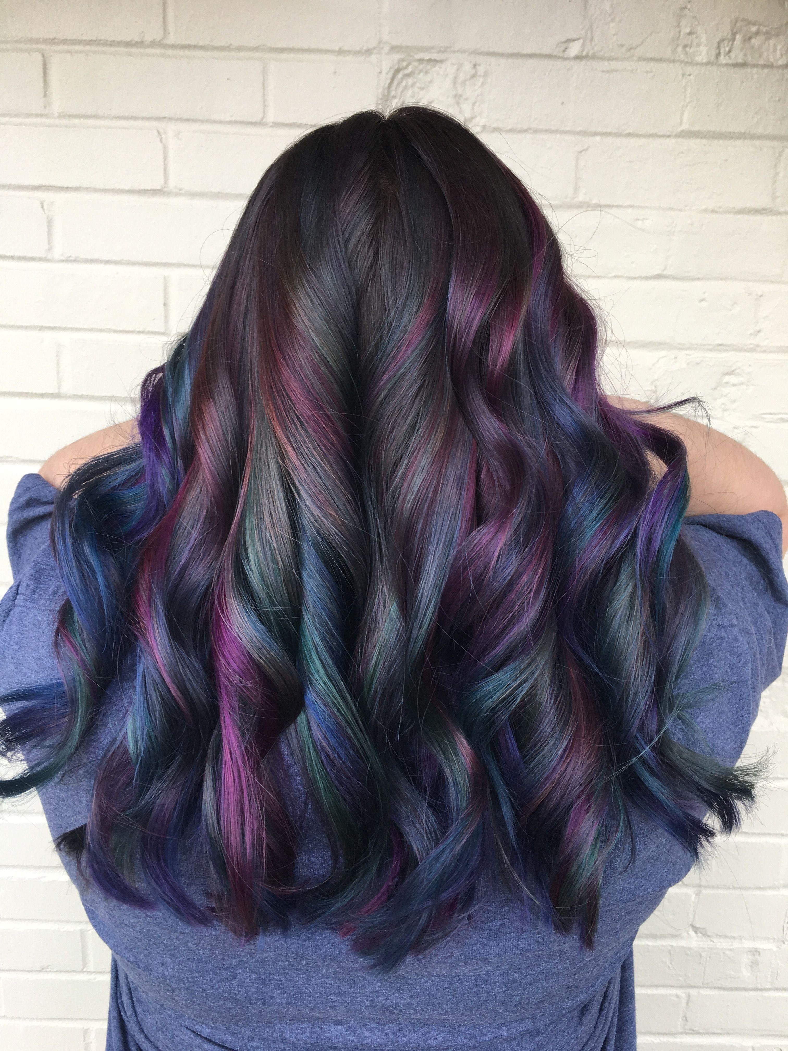 Magnifiek Oil slick hair by @hairwaytokale   Gorgeous Hair Colors   Oil @BL22