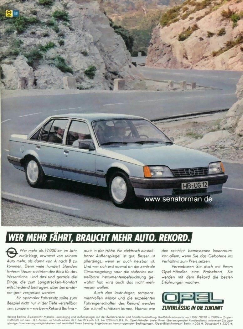 Pin Von Theremko1975 Auf Opel Reklame Auto Bild Autobilder Autos