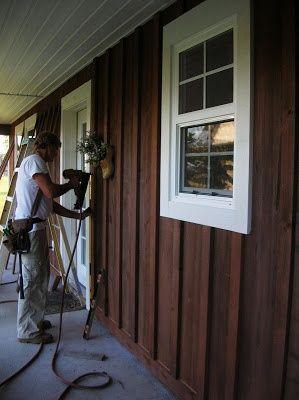Board And Batten Siding Google Search Wood Siding Exterior House Siding Brown House Exterior