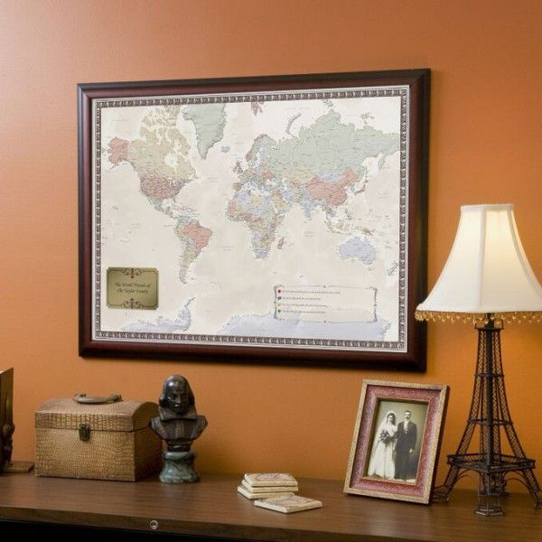 Personalized world traveler map to help you remember all your explore first anniversary gifts and more personalized world traveler map gumiabroncs Image collections