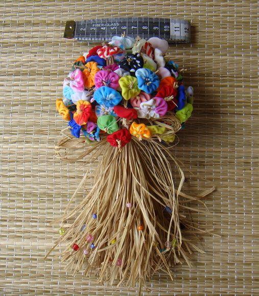 Buquê Flores de Fuxico   Fafa Arte   Elo7
