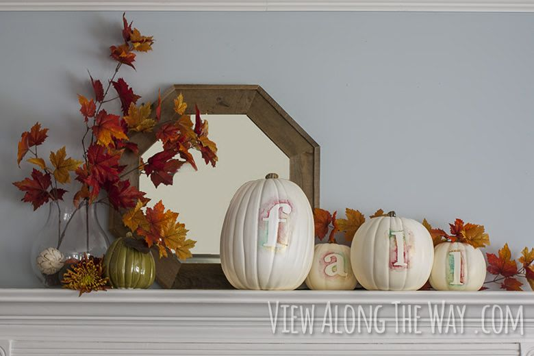 Crafty Time Watercolored Pumpkins - Things To Do Yourself - DIY - halloween do it yourself decorations