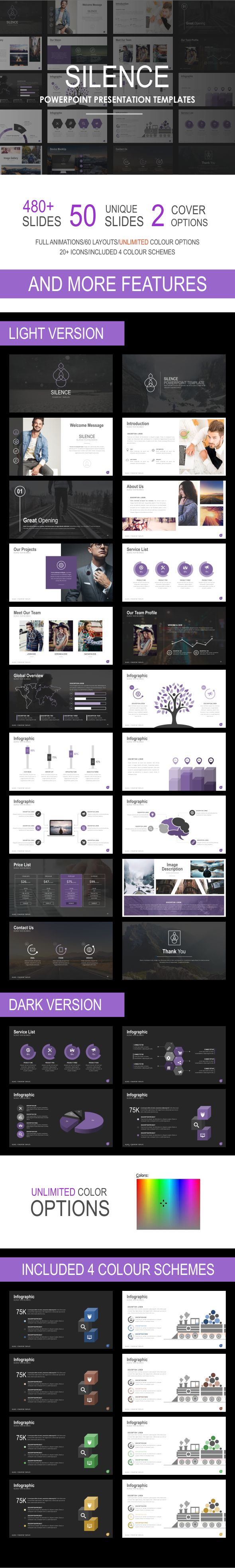 Silence Powerpoint Template | Pinterest | Template, Business ...