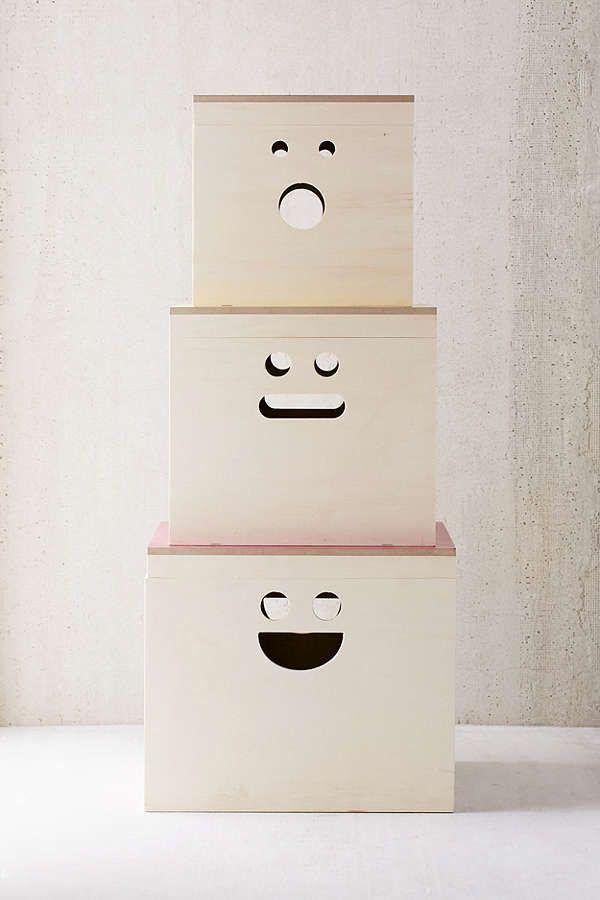 Happy Face Nesting Storage Box Set