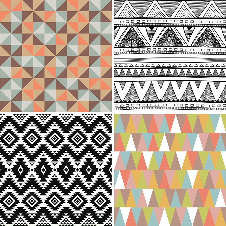 Muster g ltig interior trend chevron geometrisch aztec for Suche tapeten muster