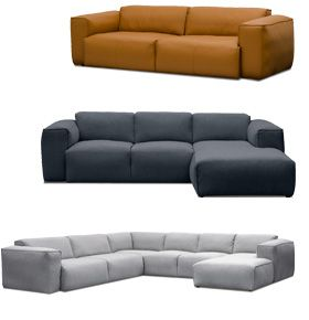 3 sitzer sofa hudson ii leder 3 sitzer sofa material bezug aus 100 semianilin leder. Black Bedroom Furniture Sets. Home Design Ideas