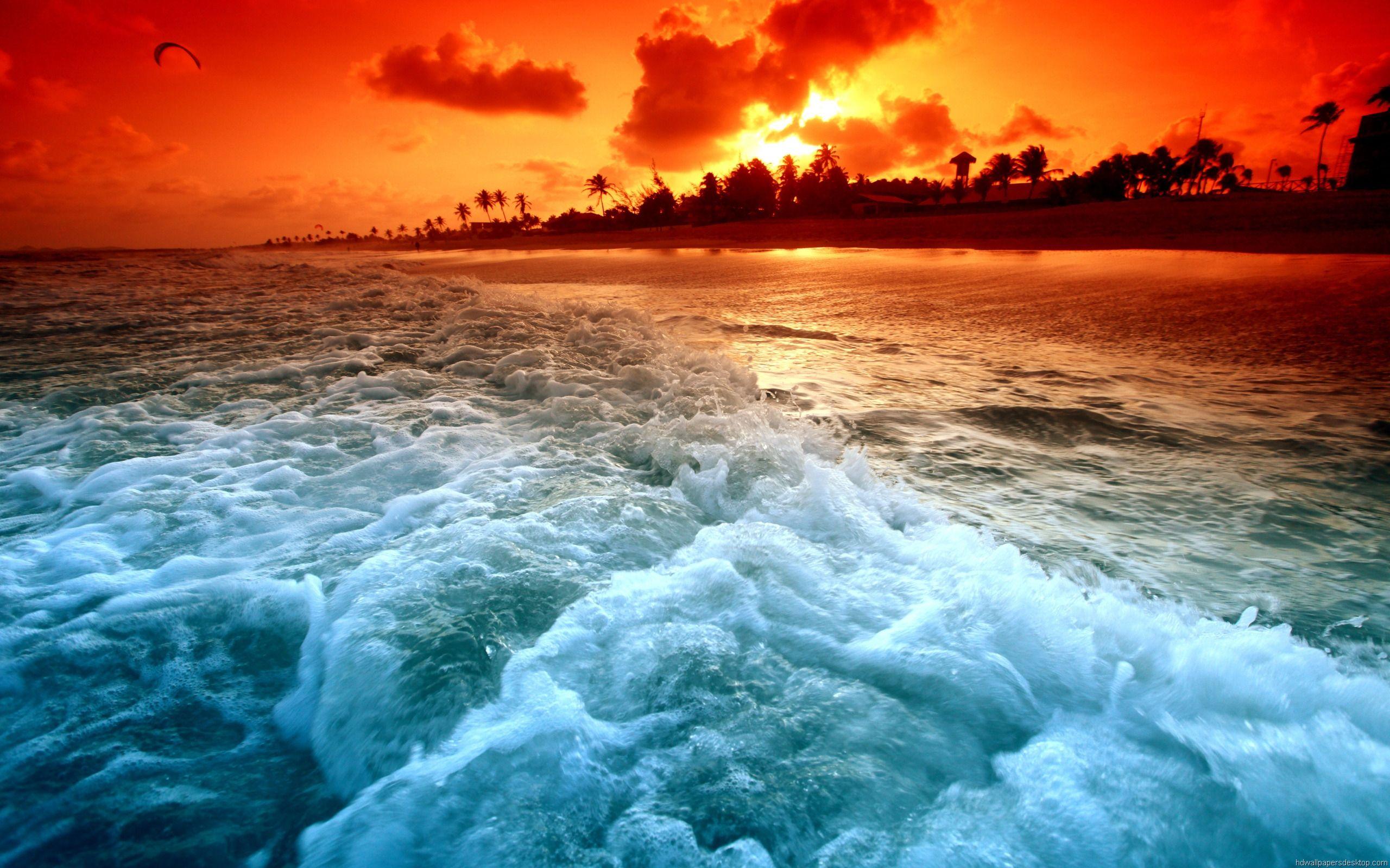 High Resolution Wallpapers 2560x1600 Beach Sunset Wallpaper Sunset Wallpaper Ocean Sunset