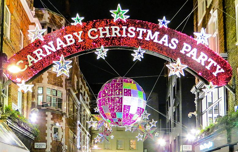 The Carnaby Street Christmas Lights were switched on yesterday with a bang!  When you are in the area to check them out, come and meet our team at  Regents ... - The Carnaby Street Christmas Lights Were Switched On Yesterday With