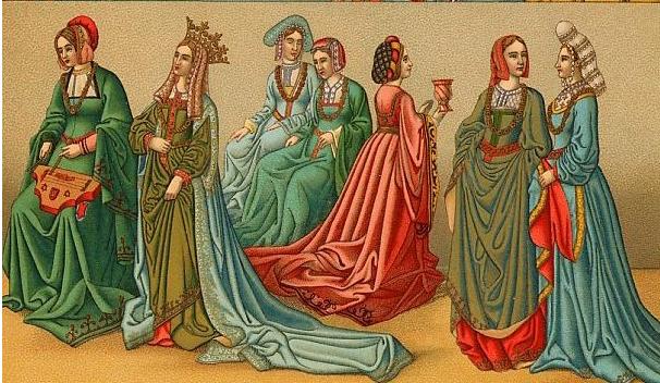 Vestidos mujeres edad media