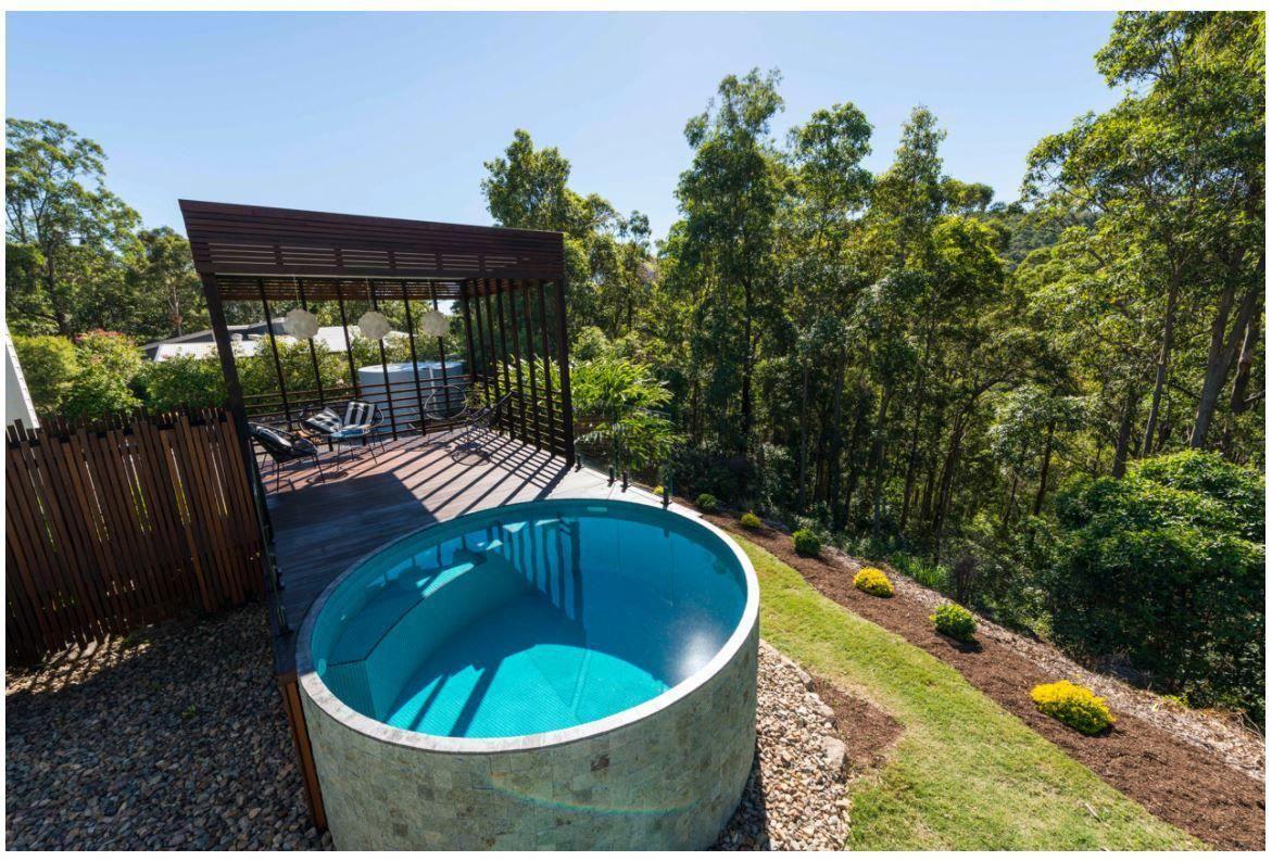 Allcast Precast Plunge Pool Plungepool Roundpool Www Allcastprecast Com Au Small Pool Design Small Backyard Pools Pool Landscaping