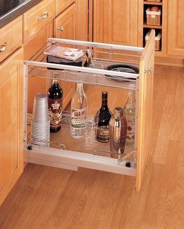 Rev A Shelf 5527 15cr Bottom Mount Pull Out Basket Wire Chrome By Rev A Shelf 210 70 Rev A Shelf 5527 15cr Bottom M Rev A Shelf Shelves Closet Accessories