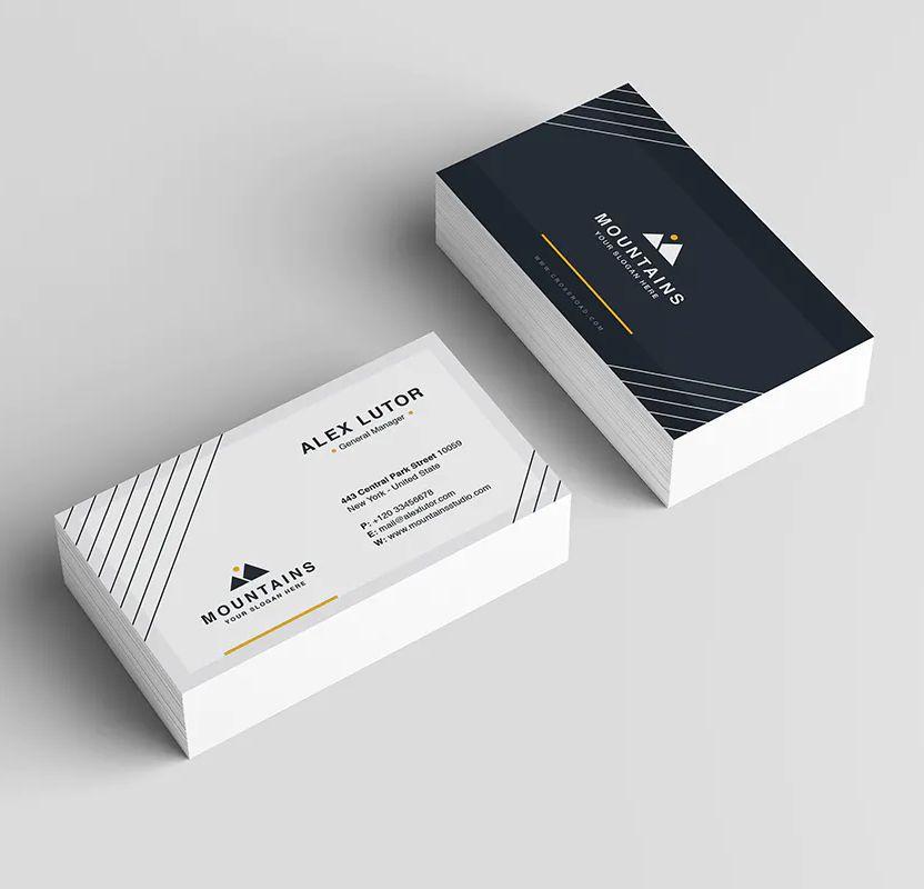 Modern Business Card Design Ai Eps Psd Business Card Template Design Modern Business Cards Modern Business Cards Design