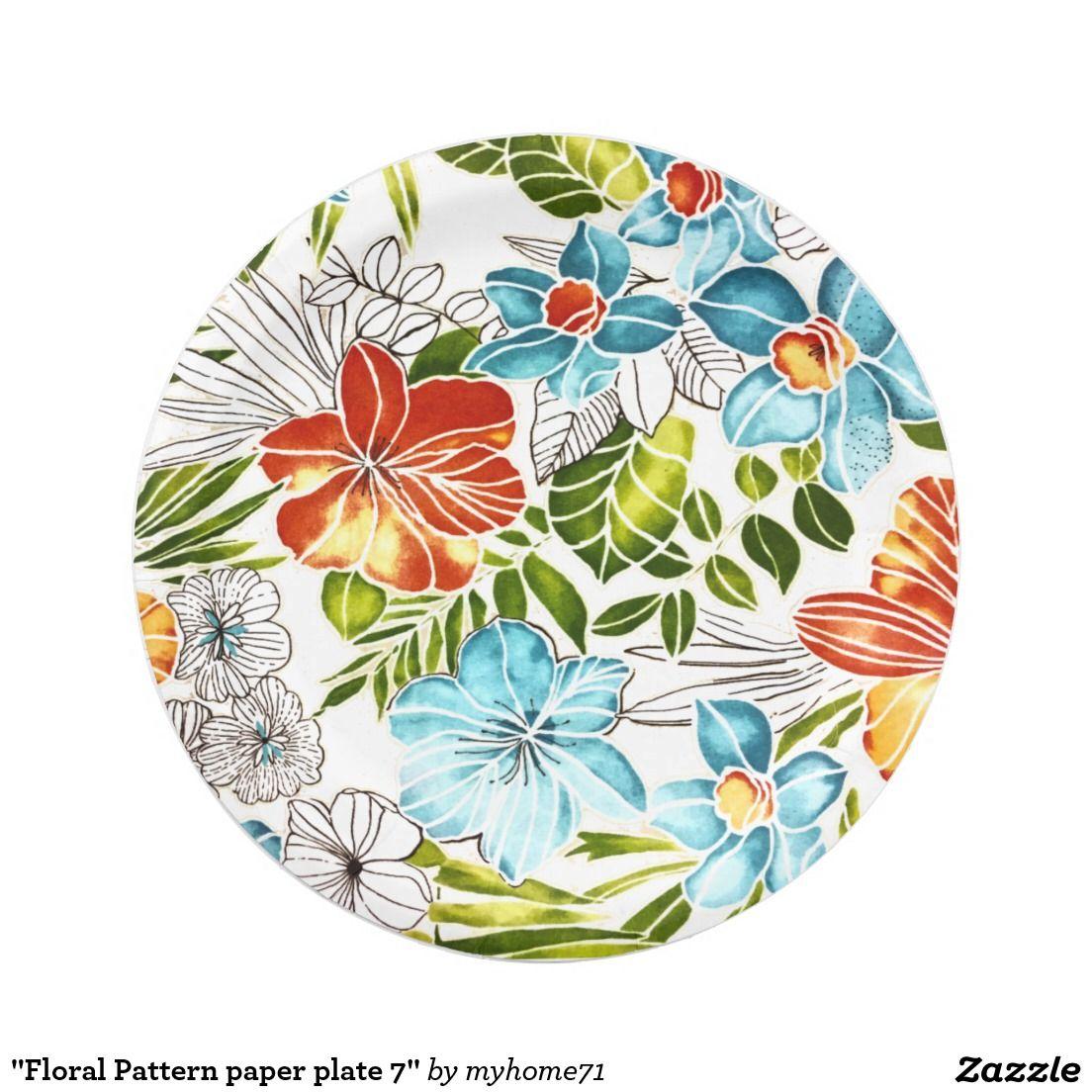 Floral Pattern paper plate 7   sc 1 st  Pinterest & Floral Pattern paper plate 7