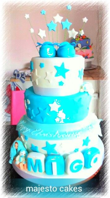 baptismal cake by majesto cake studio