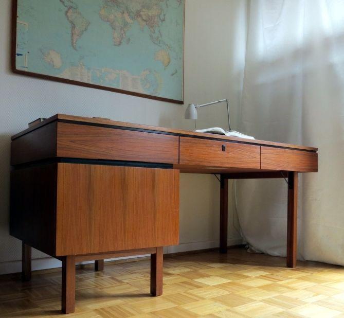 French Design Chef Schreibtisch Art Deco Bauhaus Mid Century