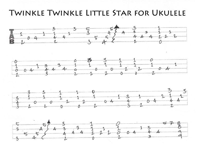 Twinkle Twinkle on Ukulele – Jazz chord Melody | The Ukulele