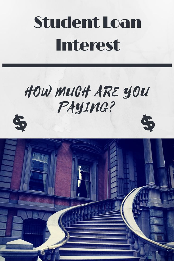 How much student loan interest are you paying student
