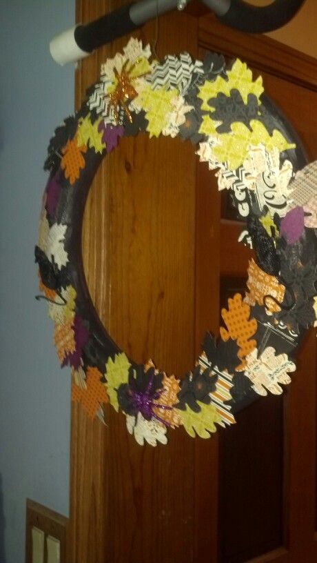 Stampin Up Witches Brew Wreath