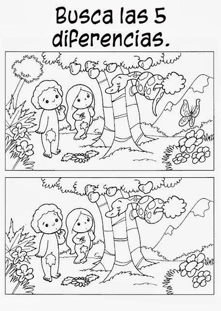 Dios creó un jardín maravilloso para Adán y Eva. Todos los días Dios ...