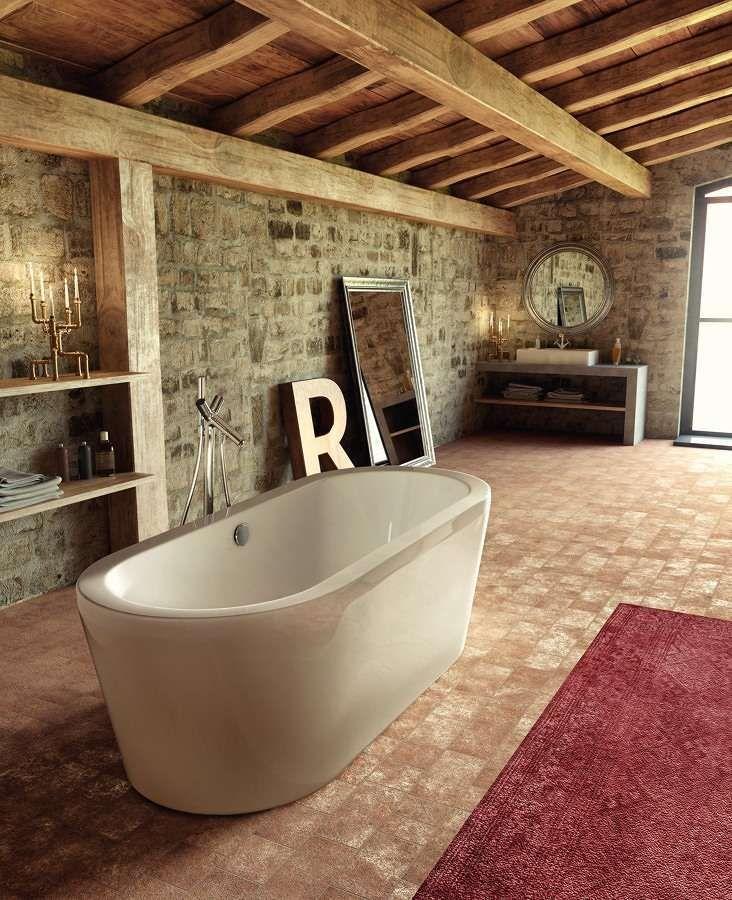 da bagno rustiche - Bagno in stile rustico