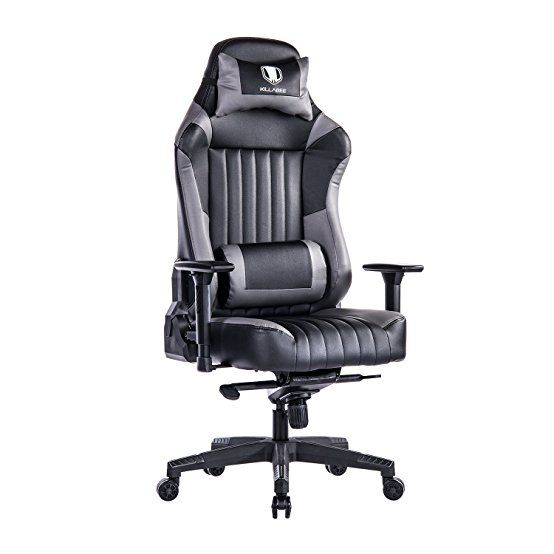 killabee ergonomic racing gaming chair big and tall 440lb e sports
