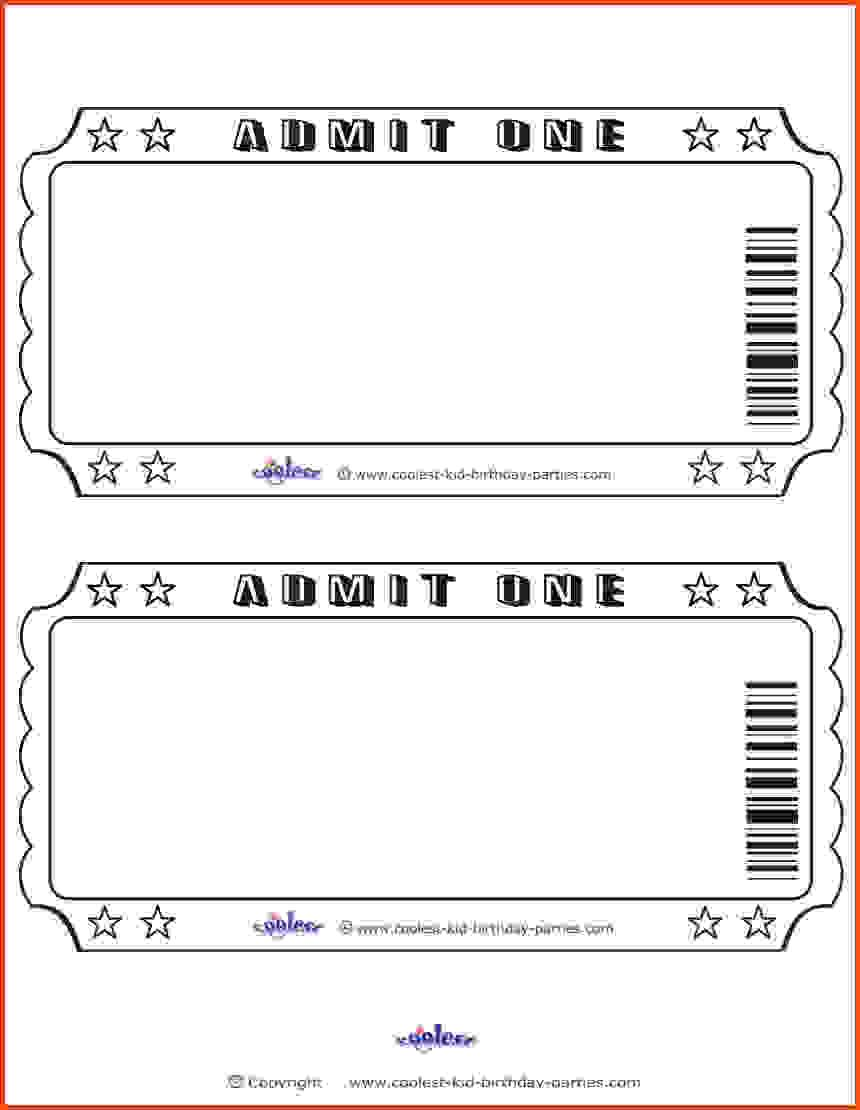 Blank Movie Ticket Clipart Within Blank Admission Ticket Template Movie Ticket Template Business Card Template Word Ticket Template