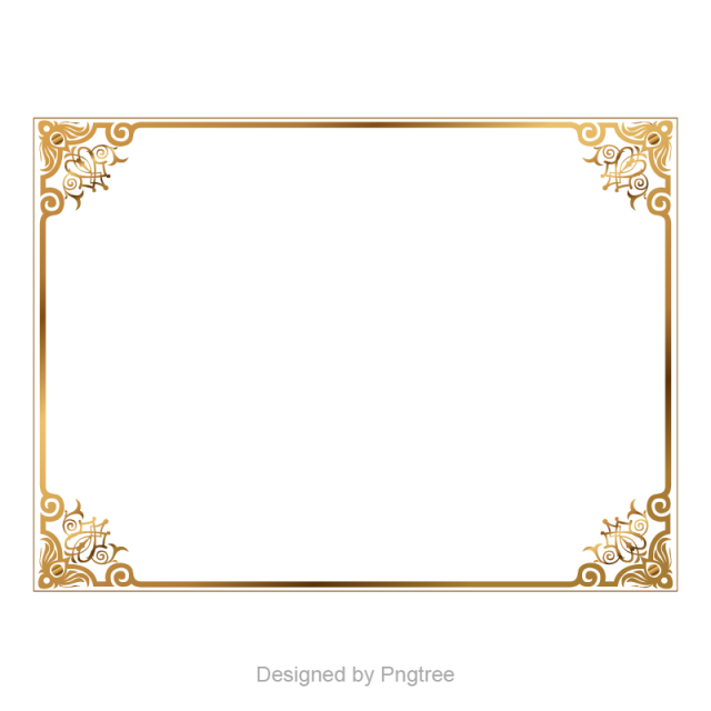 9d85a7d14675 Golden border,border vector,Boundary