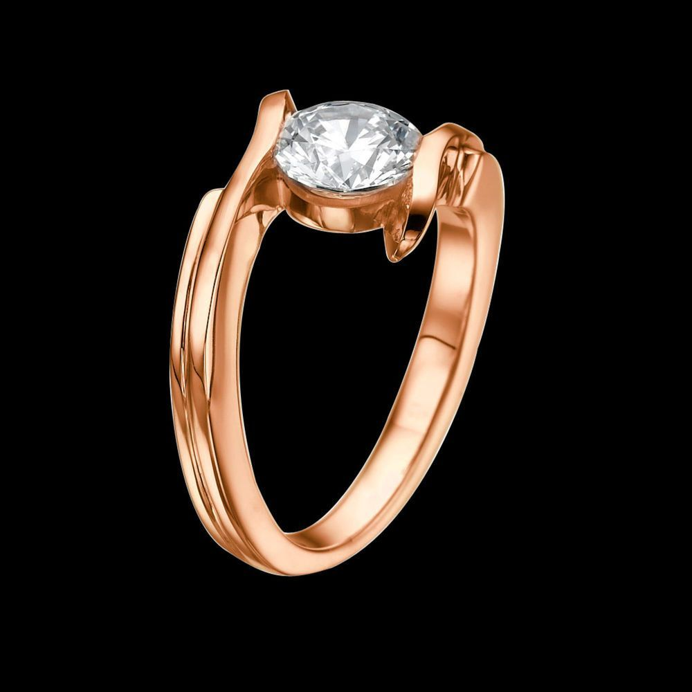 ct fgvs ladies enhanced diamond engagement ring round cut