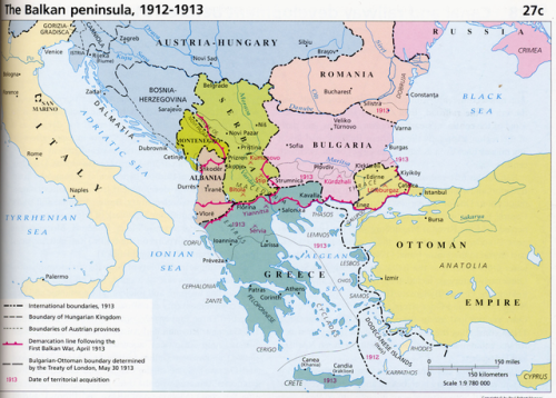 The Balkan Peninsula, 1912-1913. | Maps | Political geography ...