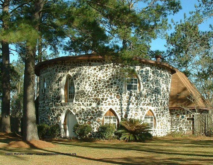 Renyard felt 39 s cordwood home near adel georgia the home - How to build a cordwood house ...