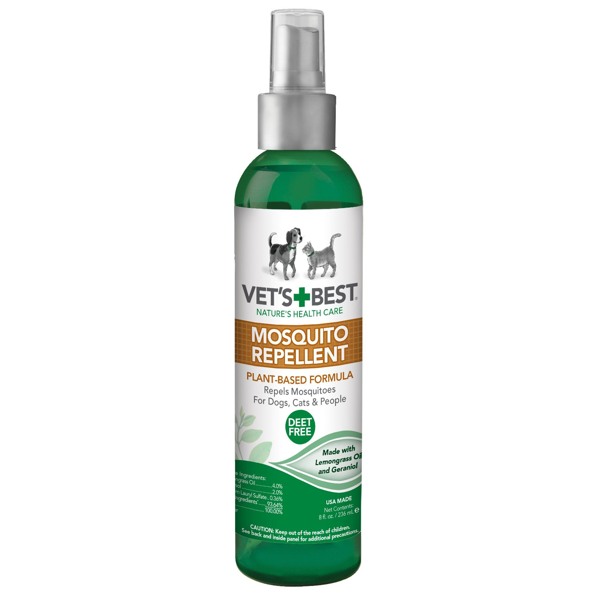 Vet S Best Mosquito Repellent Spray For Dogs Cats 8 Fl Oz