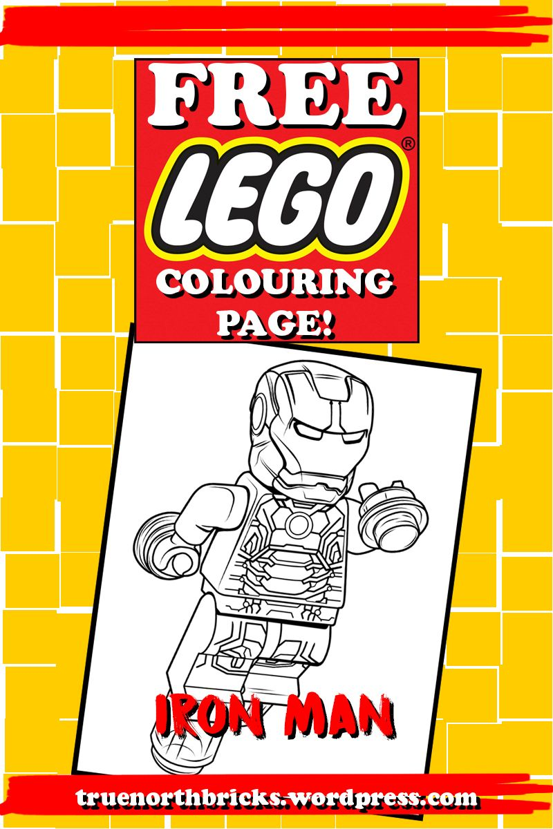 Free LEGO Colouring Page – Iron Man