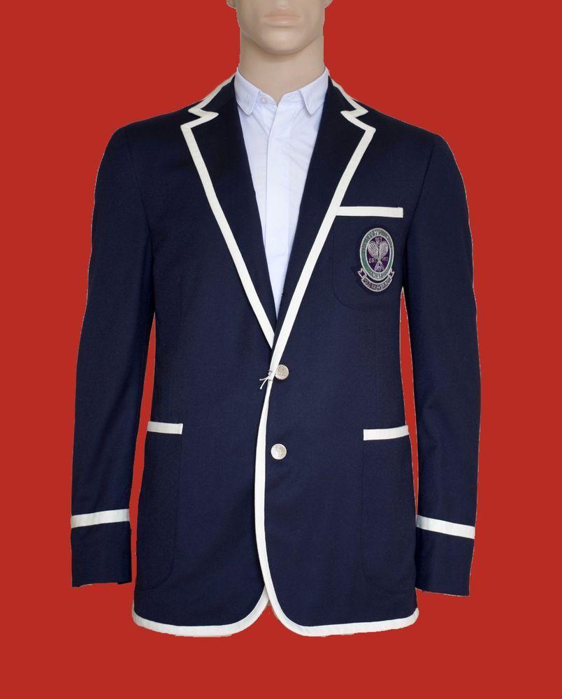 Ralph Wimbledon 42 Bnwt Lauren Tennis Jacket Polo Umpire Blazer bgYy6f7