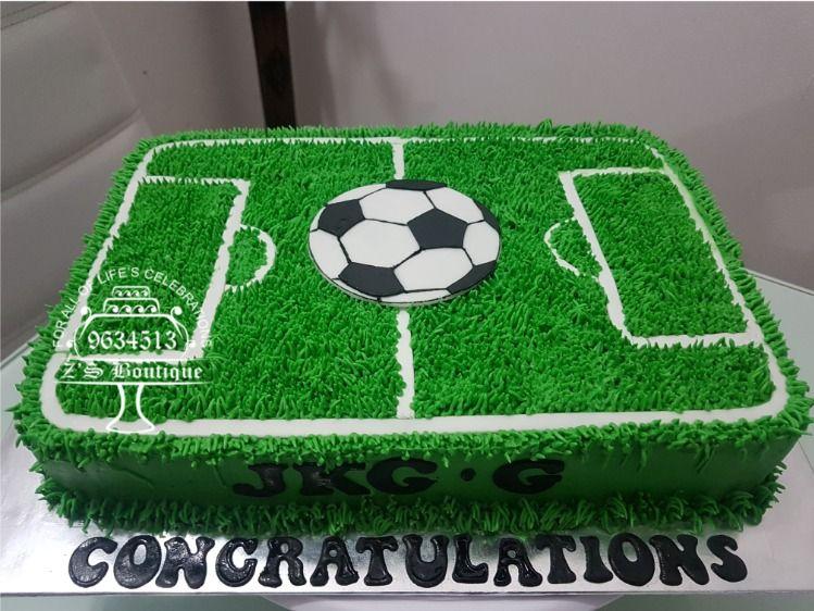 Football Pitch Cake Congratulations Jkg G