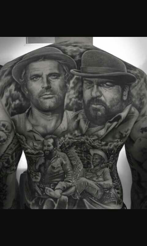 Bud Spencer and Terence Hill tattoo
