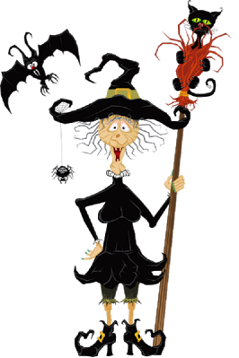 halloween funny witch cartoon clipart images are free to copy for your own personal use - Halloween Witch Cartoon