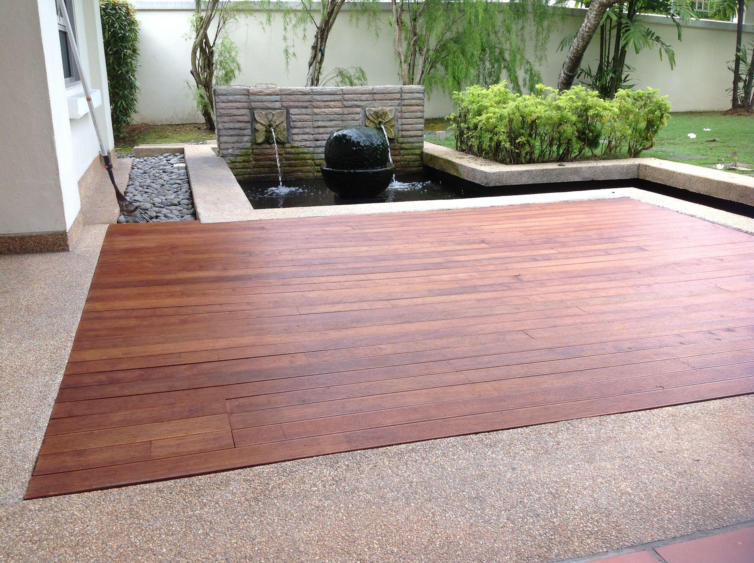 Timber Decking Chengal Malaysia Timber deck, Timber