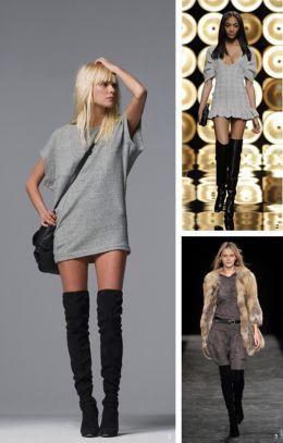 how-to-wear-thigh-high-boots-12 | clothes/outfits | Pinterest ...