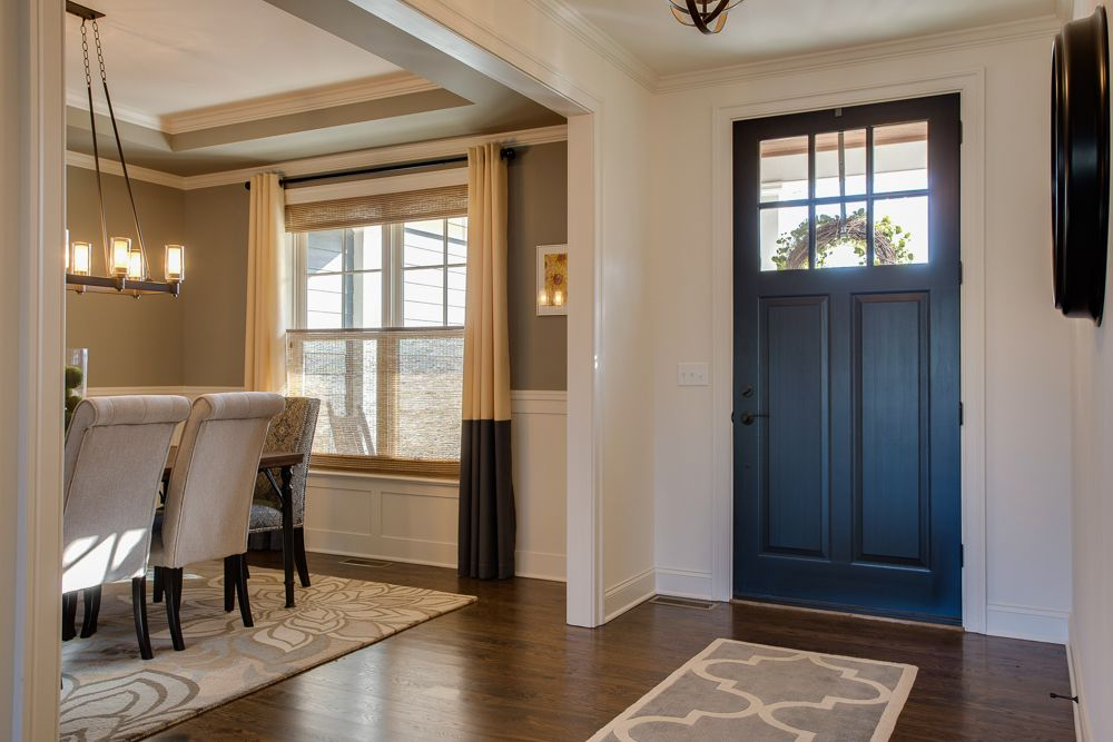 Foyer Front Door Opening Into Dining Room Farinelli Construction Home Open Dining Room Dining Room Combo Inside Front Doors