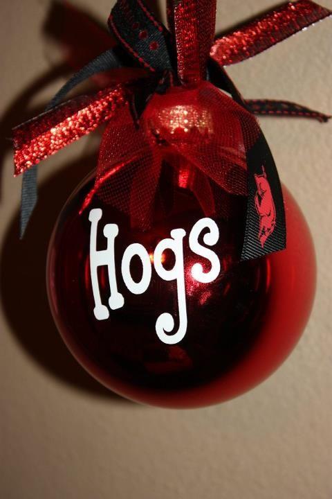razorback ornaments! Christmas Store, Diy Christmas Ornaments, Christmas  Presents, Holiday Gifts, - Razorback Ornaments! Christmas! Arkansas Razorbacks, Christmas