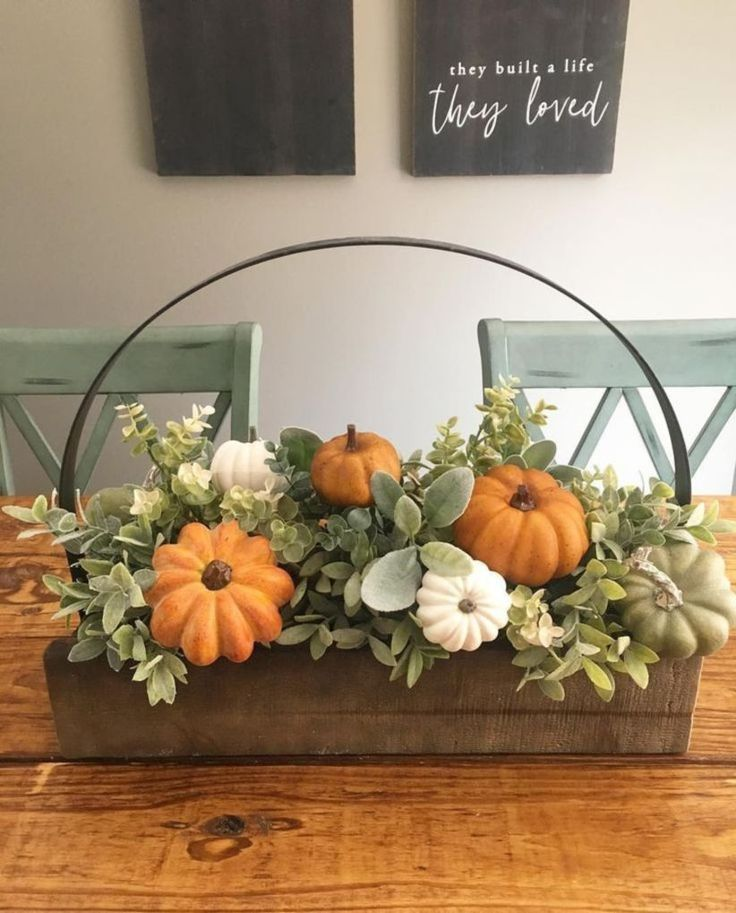 50 luxuriöse Crafty Diy Farmhouse Herbst Dekor Ideen #falldecorideas