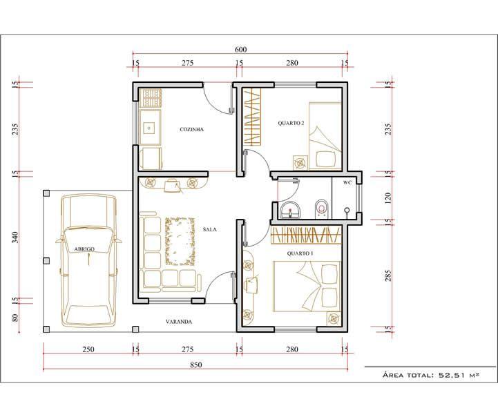 Plantas de casas com medidas gratis 721 604 for Planos de oficinas pequenas modernas