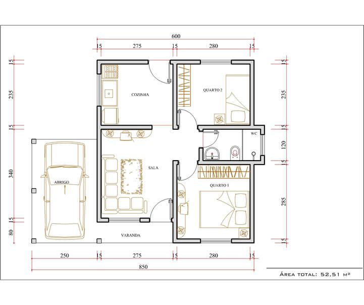 planos de casas pequenas medidas