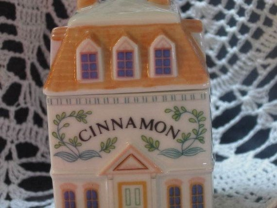 CINNAMON LENOX Village Spice Jar Victorian on Etsy, $10.00