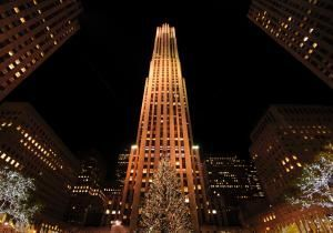 center | Rockefeller Center Christmas Tree - 80th Annual Rockefeller Center ... norwayspruce #merrychristmas #rockefellercenter #treelighting #holiday #treestands #30rock #nyc #city