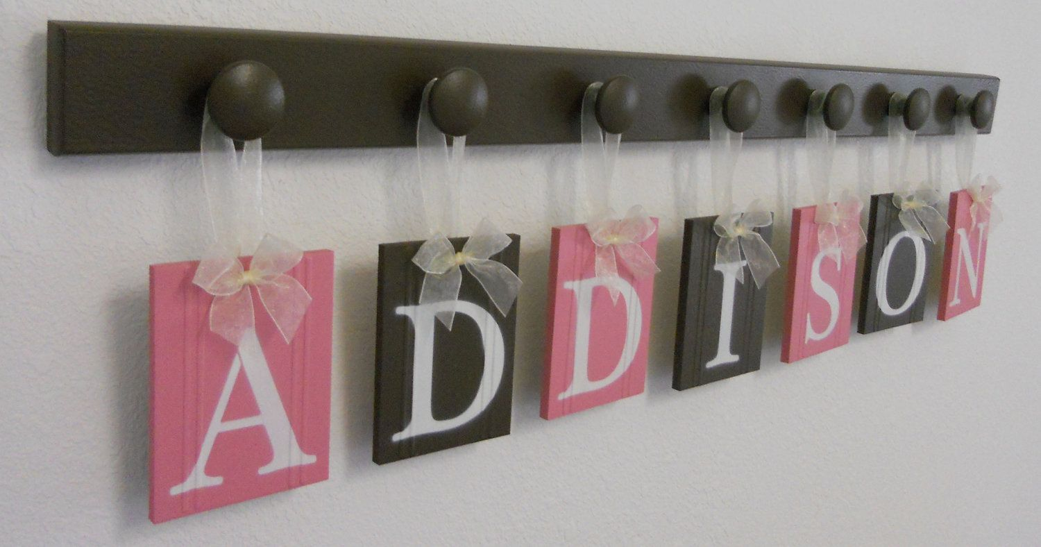 Personalized Baby Name Wall Hanging Sign Set Includes