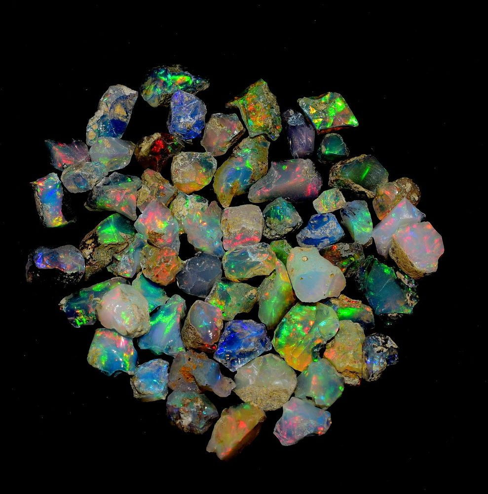 100Natural Super A,AA,AAA Welo Fire Ethiopian Opal Rough