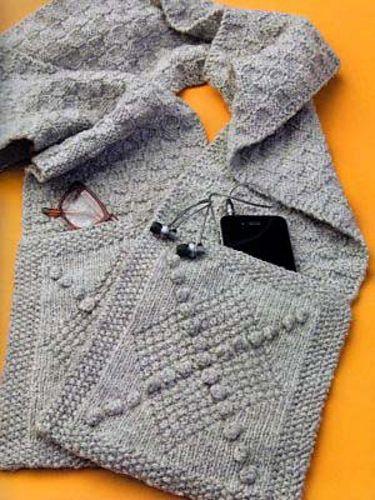 Basketweave Pocket Scarf | Knitting 5 | Pinterest | Tejido de dos ...