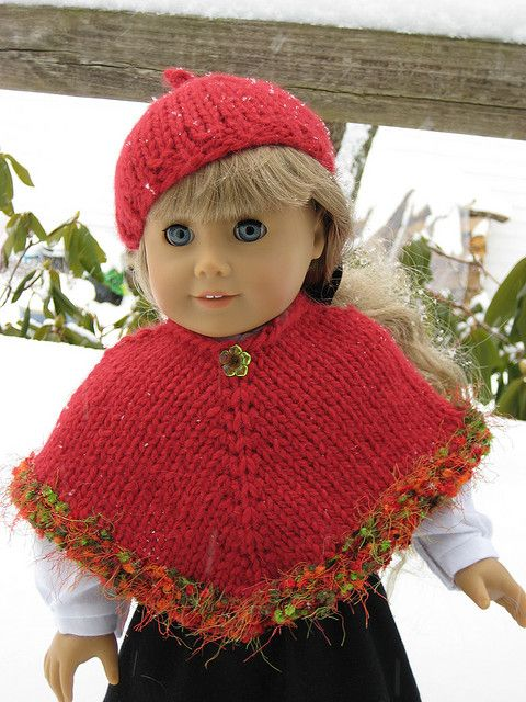 Kirsten Poncho Free Knitting Pattern On Ravelry For American Girl