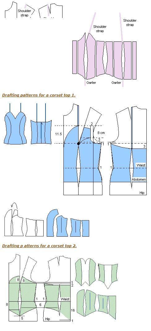 Patron de corset:   Costura   Pinterest   Patrones, Costura y Molde